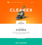 Cleaning Supplies Landing Page Template