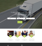 Express Delivery Services Landing Page Template
