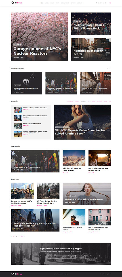Media Most Popular website inspirations at your coffee break? Browse for more WordPress #templates! // Regular price: $45 // Sources available:.PHP, This theme is widgetized #Media #Most Popular #WordPress