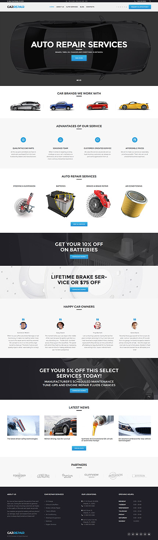 Tema Wordpress ideal talleres, mecanicos, reparacion vehiculos ...