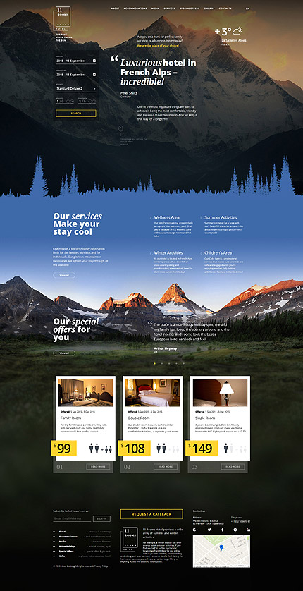 Hotels Most Popular website inspirations at your coffee break? Browse for more Bootstrap #templates! // Regular price: $75 // Sources available: .HTML,  .PSD #Hotels #Most Popular #Bootstrap