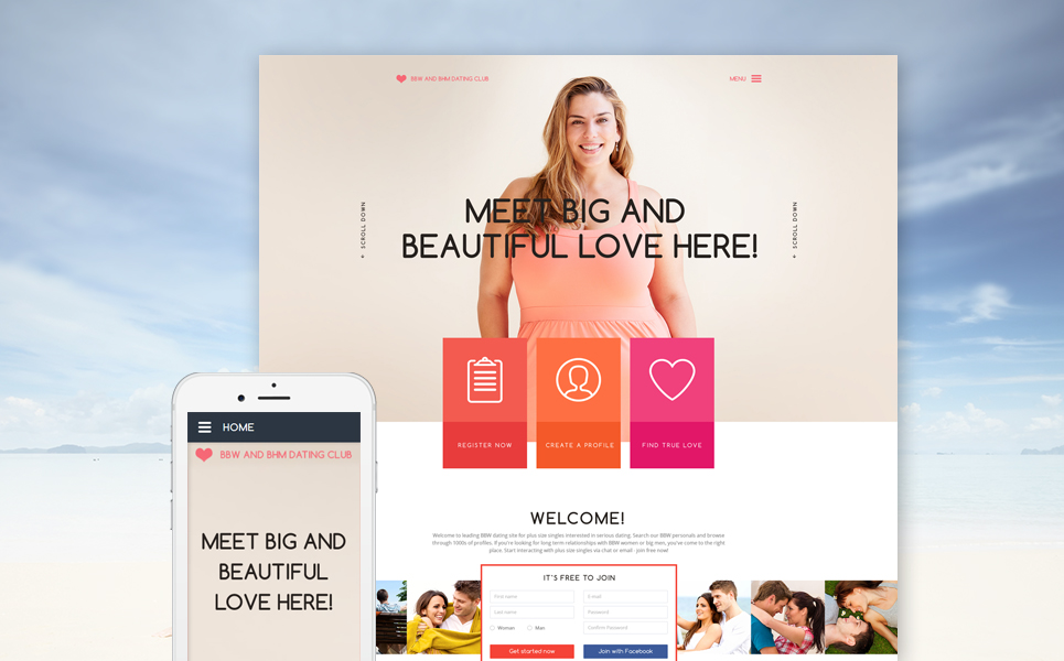 dating website template free download
