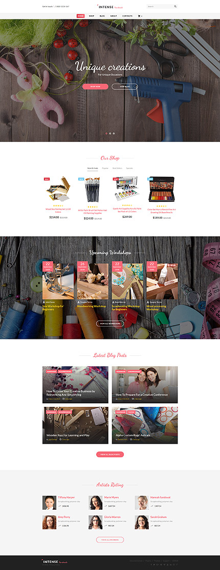 Most Popular Hobbies & Crafts website inspirations at your coffee break? Browse for more Bootstrap #templates! // Regular price: $72 // Sources available: .HTML,  .PSD #Most Popular #Hobbies & Crafts #Bootstrap