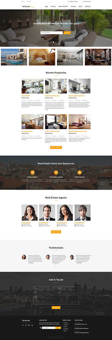 Real Estate Most Popular website inspirations at your coffee break? Browse for more Bootstrap #templates! // Regular price: $59 // Sources available: .HTML,  .PSD #Real Estate #Most Popular #Bootstrap