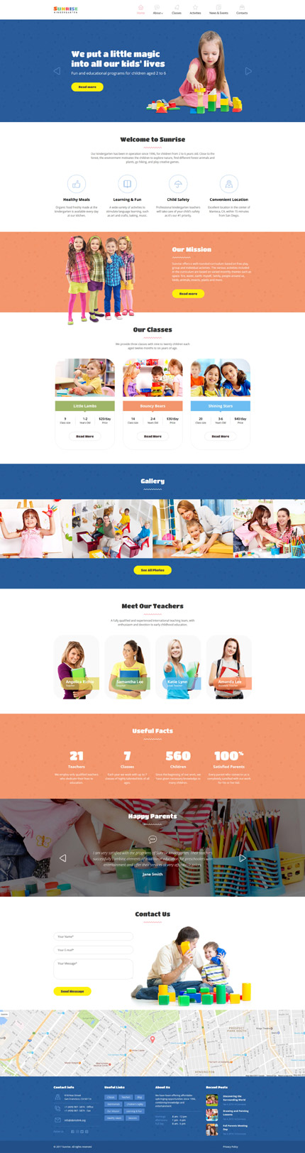 Family website inspirations at your coffee break? Browse for more Bootstrap #templates! // Regular price: $75 // Sources available: .HTML,  .PSD #Family #Bootstrap