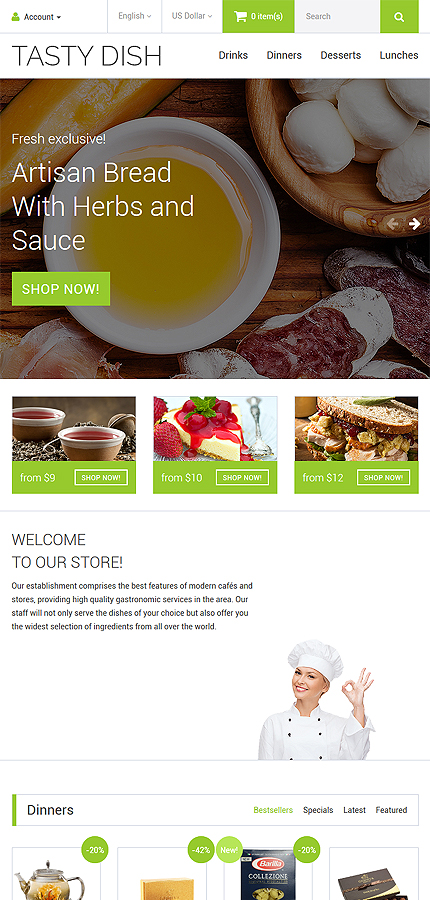 Cafe and Restaurant Most Popular website inspirations at your coffee break? Browse for more OpenCart #templates! // Regular price: $64 // Sources available: .PSD, .PNG, .PHP, .TPL, .JS #Cafe and Restaurant #Most Popular #OpenCart
