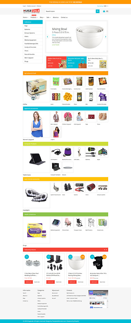 Huge Sale Responsive Shopify Template