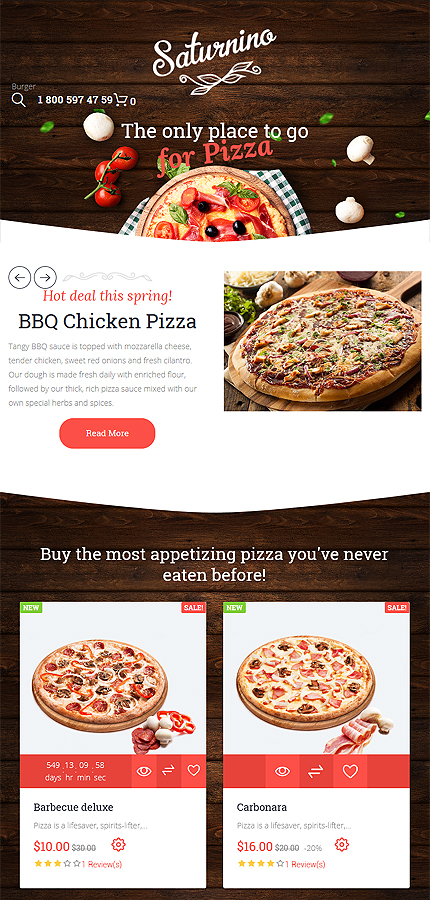 Cafe and Restaurant Most Popular website inspirations at your coffee break? Browse for more PrestaShop #templates! // Regular price: $139 // Sources available: .PSD, .PHP, .TPL #Cafe and Restaurant #Most Popular #PrestaShop