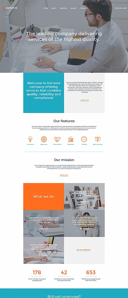 Business Most Popular website inspirations at your coffee break? Browse for more Moto CMS HTML #templates! // Regular price: $139 // Sources available:<b>Sources Not Included</b> #Business #Most Popular #Moto CMS HTML