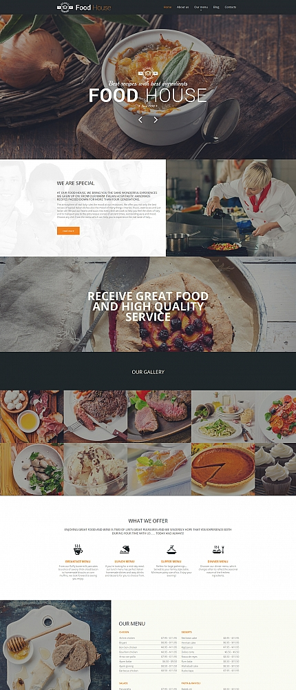 Food &amp; Drink Most Popular website inspirations at your coffee break? Browse for more Moto CMS HTML #templates! // Regular price: $139 // Sources available:<b>Sources Not Included</b> #Food &amp; Drink #Most Popular #Moto CMS HTML