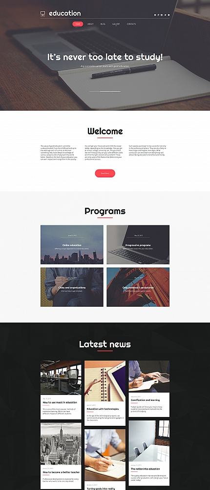 Education website inspirations at your coffee break? Browse for more Moto CMS HTML #templates! // Regular price: $139 // Sources available:<b>Sources Not Included</b> #Education #Moto CMS HTML