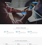 Communication Landing Page Template