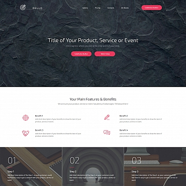 Landing Page Template # 59193