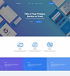 Drag and Drop Application Portfolio Landing Page Template