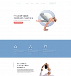 Yoga Club Landing Page Template