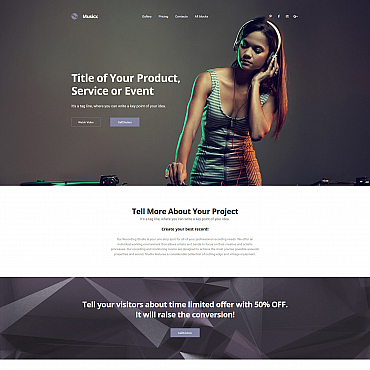 Landing Page Template # 59251