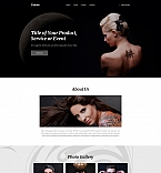 Tattoo Salon Landing Page Template
