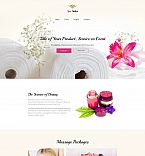 Spa Salon Landing Page Template