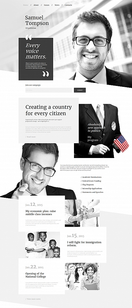 Politics website inspirations at your coffee break? Browse for more Moto CMS HTML #templates! // Regular price: $139 // Sources available:<b>Sources Not Included</b> #Politics #Moto CMS HTML