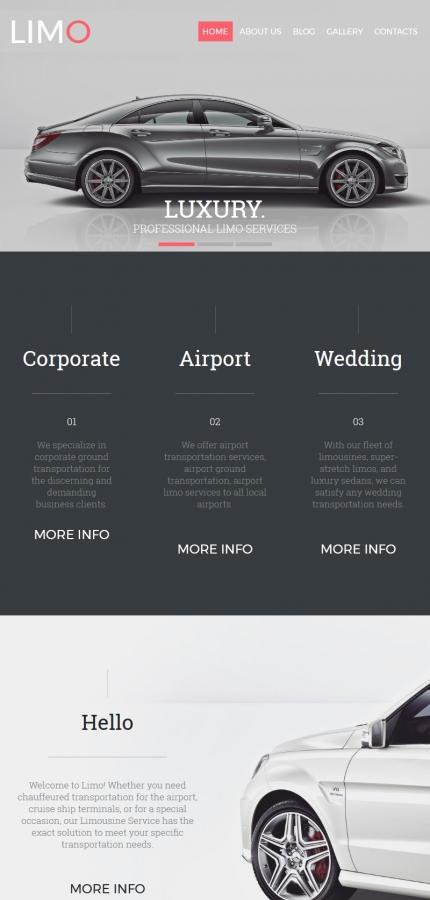 Plantilla para moto cms 3 - Categoría: Coches y motos - versión para Tablet (Responsive)