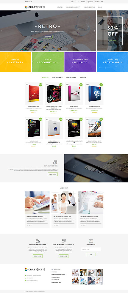 Software Most Popular website inspirations at your coffee break? Browse for more PrestaShop #templates! // Regular price: $139 // Sources available: .PSD, .PHP, .TPL #Software #Most Popular #PrestaShop