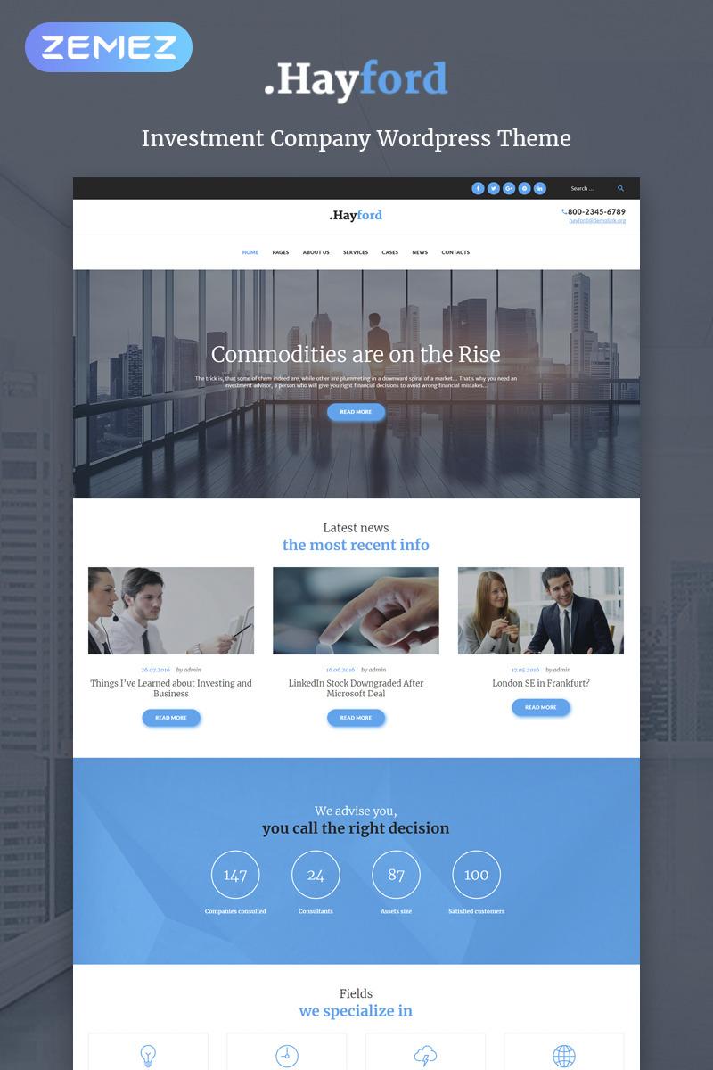 Investment WordPress Template