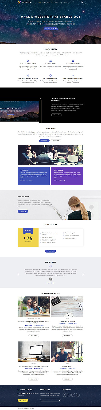 Business Most Popular website inspirations at your coffee break? Browse for more Joomla #templates! // Regular price: $75 // Sources available: .PSD, .PHP #Business #Most Popular #Joomla