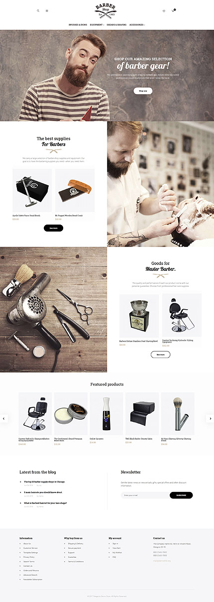 Beauty Most Popular website inspirations at your coffee break? Browse for more Magento #templates! // Regular price: $179 // Sources available: .PSD, .XML, .PHTML, .CSS #Beauty #Most Popular #Magento