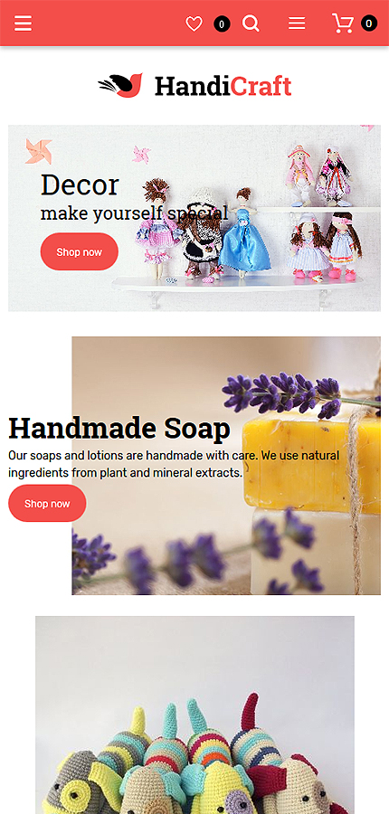 Hobbies & Crafts website inspirations at your coffee break? Browse for more Magento #templates! // Regular price: $179 // Sources available: .PSD, .XML, .PHTML, .CSS #Hobbies & Crafts #Magento