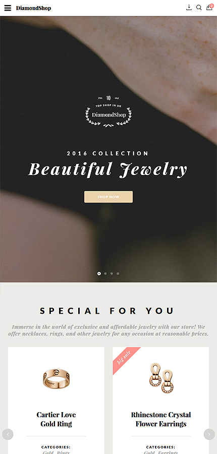 Jewelry Most Popular website inspirations at your coffee break? Browse for more Bootstrap #templates! // Regular price: $75 // Sources available: .HTML,  .PSD #Jewelry #Most Popular #Bootstrap