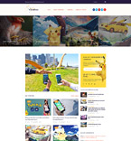 Pokemon Go Game WordPress Template