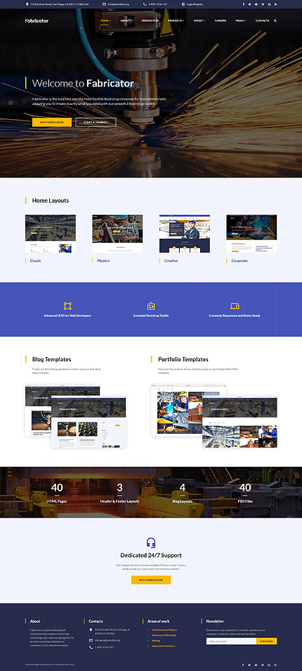 Industrial Most Popular website inspirations at your coffee break? Browse for more Bootstrap #templates! // Regular price: $75 // Sources available: .HTML,  .PSD #Industrial #Most Popular #Bootstrap