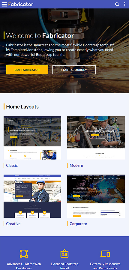 Industrial website inspirations at your coffee break? Browse for more Bootstrap #templates! // Regular price: $75 // Sources available: .HTML,  .PSD #Industrial #Bootstrap