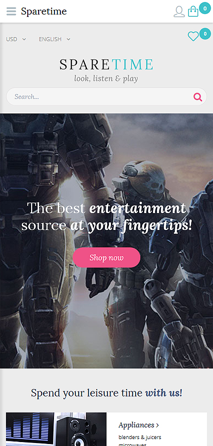 Entertainment Most Popular website inspirations at your coffee break? Browse for more OpenCart #templates! // Regular price: $45 // Sources available: .PSD, .PNG, .PHP, .TPL, .JS #Entertainment #Most Popular #OpenCart