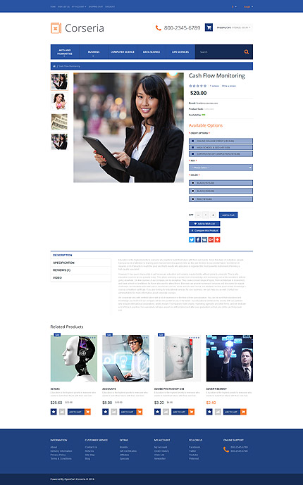 Education Most Popular website inspirations at your coffee break? Browse for more OpenCart #templates! // Regular price: $49 // Sources available: .PSD, .PNG, .PHP, .TPL, .JS #Education #Most Popular #OpenCart