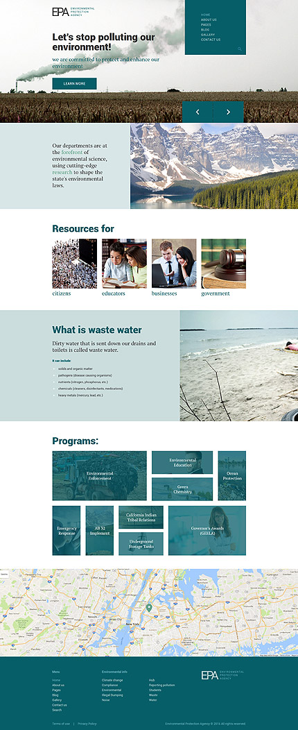 Environmental Joomla Template
