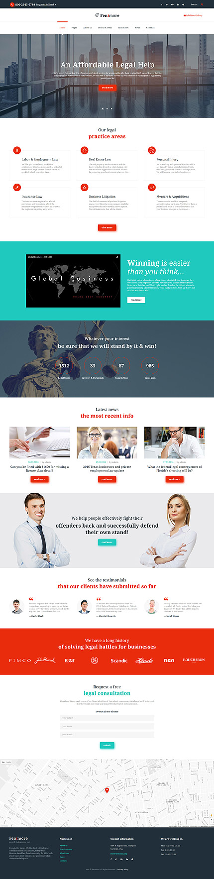 Law Most Popular website inspirations at your coffee break? Browse for more Bootstrap #templates! // Regular price: $72 // Sources available: .HTML,  .PSD #Law #Most Popular #Bootstrap