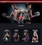 Crossfit Studio Joomla Template