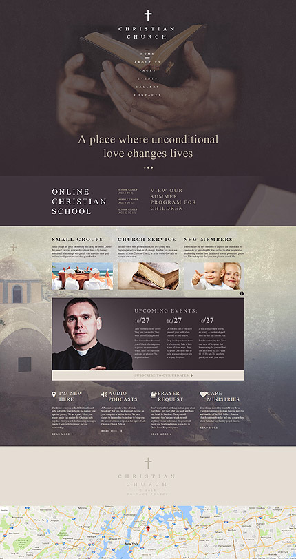 Religious website inspirations at your coffee break? Browse for more Joomla #templates! // Regular price: $75 // Sources available: .PSD, .PHP #Religious #Joomla