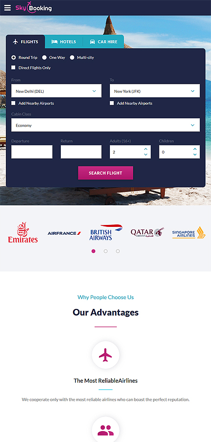 Travel website inspirations at your coffee break? Browse for more Bootstrap #templates! // Regular price: $75 // Sources available: .HTML,  .PSD #Travel #Bootstrap