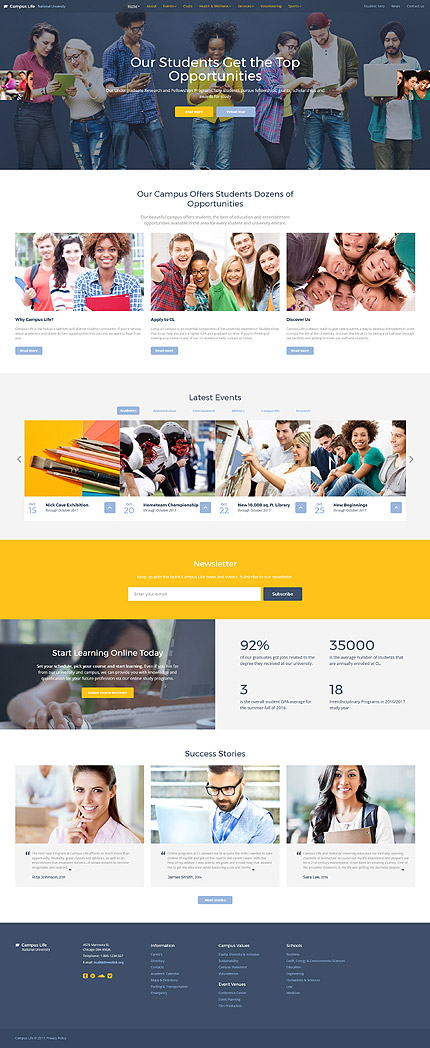 Education Most Popular website inspirations at your coffee break? Browse for more Bootstrap #templates! // Regular price: $72 // Sources available: .HTML,  .PSD #Education #Most Popular #Bootstrap