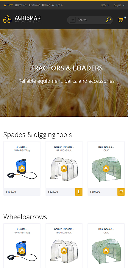 Agriculture Most Popular website inspirations at your coffee break? Browse for more PrestaShop #templates! // Regular price: $139 // Sources available: .PSD, .PHP, .TPL #Agriculture #Most Popular #PrestaShop