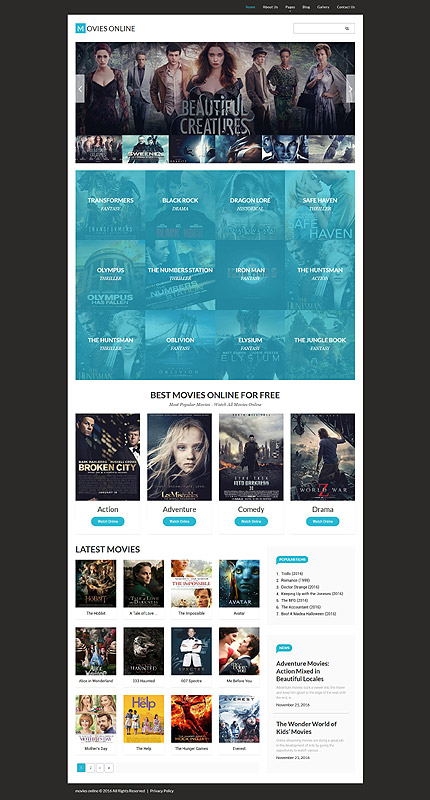 Entertainment Most Popular website inspirations at your coffee break? Browse for more Joomla #templates! // Regular price: $75 // Sources available: .PSD, .PHP #Entertainment #Most Popular #Joomla