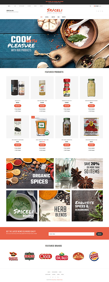 Food & Drink Most Popular website inspirations at your coffee break? Browse for more VirtueMart #templates! // Regular price: $139 // Sources available: .HTML,  .PSD, .PHP, .XML, .CSS, .JS #Food & Drink #Most Popular #VirtueMart