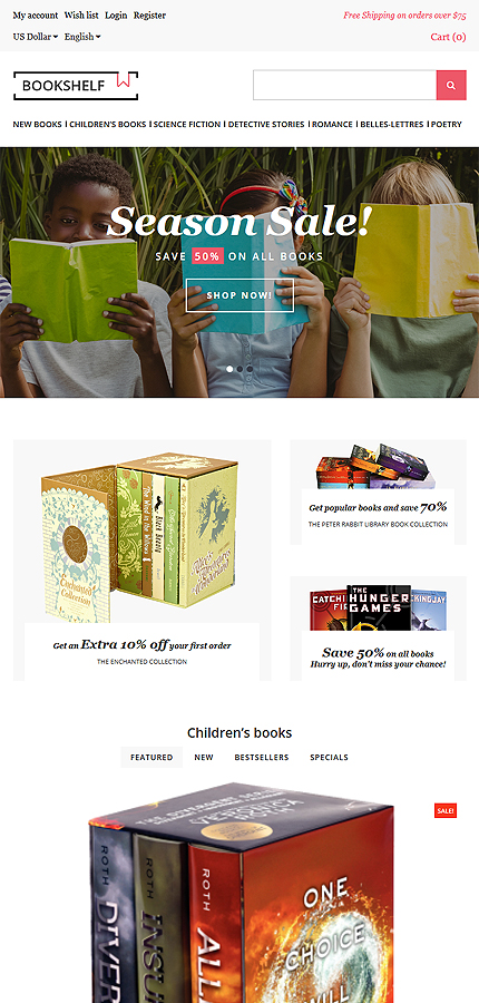 Books Most Popular website inspirations at your coffee break? Browse for more OpenCart #templates! // Regular price: $64 // Sources available: .PSD, .PNG, .PHP, .TPL, .JS #Books #Most Popular #OpenCart
