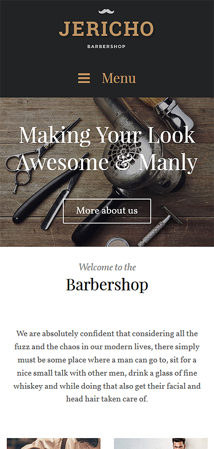 Tema Wordpress ideal barberia, peluqueria. Crear página web Bodas y ...