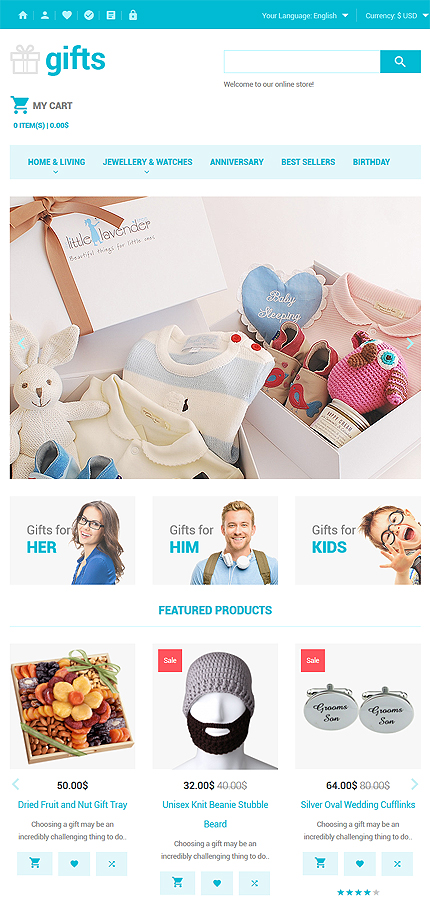 Gifts Most Popular website inspirations at your coffee break? Browse for more OpenCart #templates! // Regular price: $59 // Sources available: .PSD, .PNG, .PHP, .TPL, .JS #Gifts #Most Popular #OpenCart