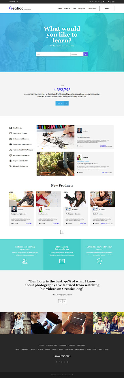 Education Most Popular website inspirations at your coffee break? Browse for more PrestaShop #templates! // Regular price: $139 // Sources available: .PSD, .PHP, .TPL #Education #Most Popular #PrestaShop