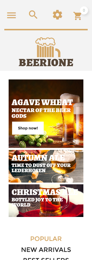 Brewery Templates website inspirations at your coffee break? Browse for more PrestaShop #templates! // Regular price: $139 // Sources available: .PSD, .PHP, .TPL #Brewery Templates #PrestaShop