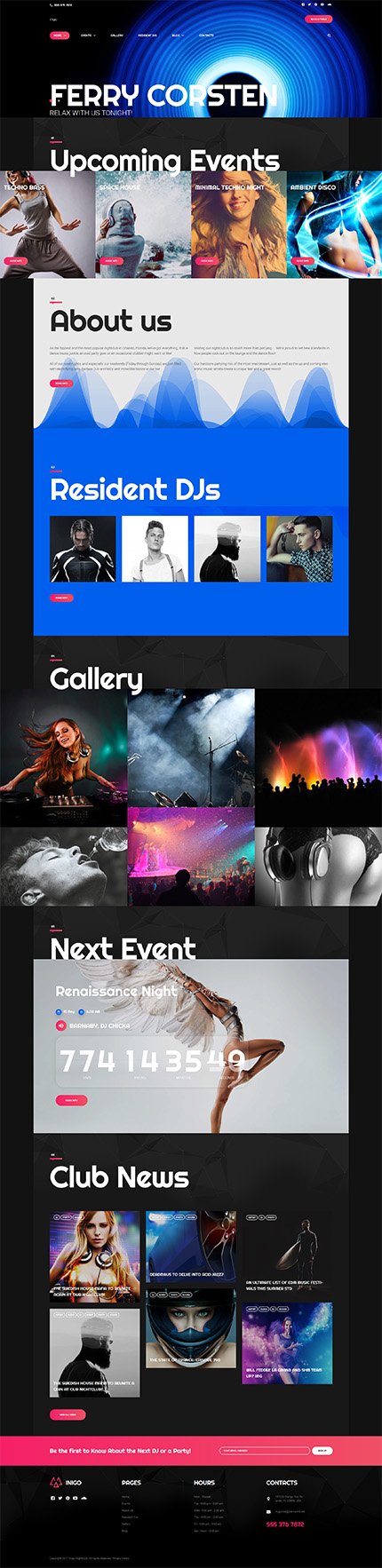 Night Club Most Popular website inspirations at your coffee break? Browse for more WordPress #templates! // Regular price: $75 // Sources available:.PHP, This theme is widgetized #Night Club #Most Popular #WordPress